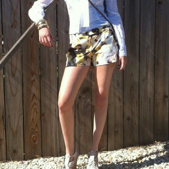 J.Crew Yellow Dip Dye Shorts Gently used in good condition - 2 missing buttons that can easily be replaced. J. Crew Shorts
