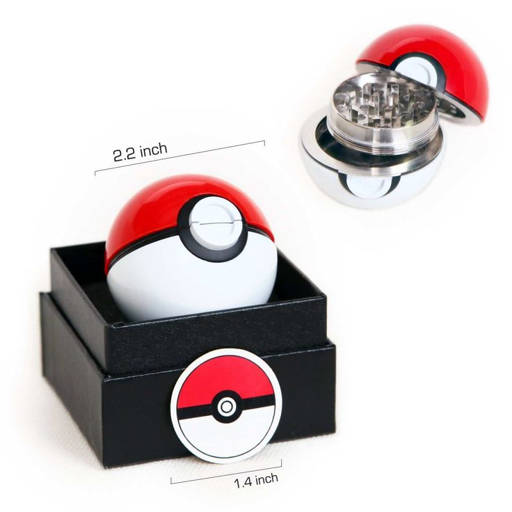 50+ Cannabis Gifts Under $20 on Amazon including this pokemon grinder - pokeball grinder.