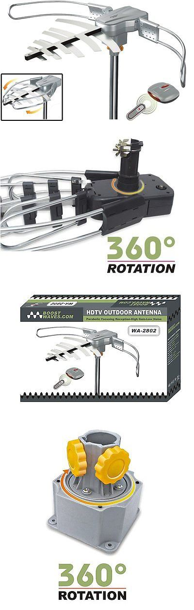 Antennas and Dishes: Wa-2802 Amplified Hd Digital Outdoor Hdtv Antenna 360° Uhf Vhf Fmradio BUY IT NOW ONLY: $40.0