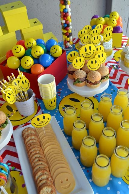 Smiley Face Party Table