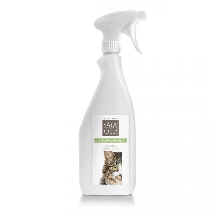 Shampoo Spray Senza Risciacquo protegge il pelo del vostro gatto, rendendolo pulito, igienizzato, lucido e profumato. La sua formulazione gli permette di pulire e spazzolare qualsiasi tipo di pelo corto e lungo con facilità.Comodo, pratico e naturale, lo Shampoo Spray è formulato con materie prime naturali e principi attivi derivati da alghe oceaniche. Ideale per ogni tipologia di razza felina.