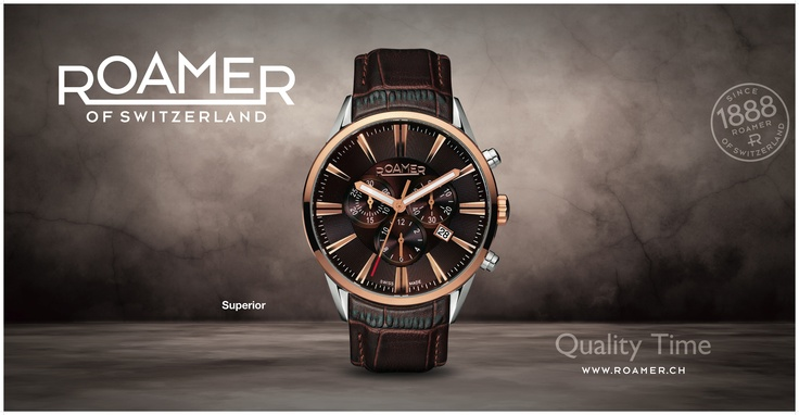 the new superior collection of roamer, wwwroamer.ch