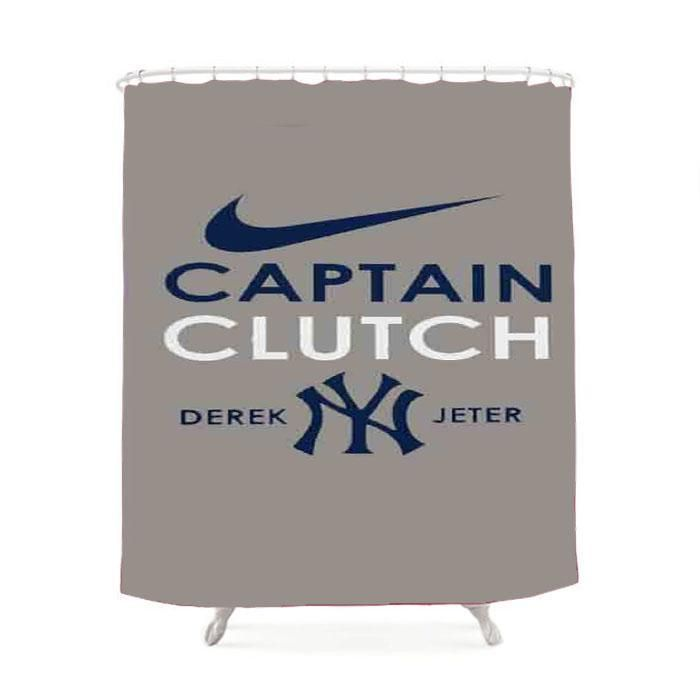 Derek Jeter Captain Clutch New York Yankees Shower Curtain With
