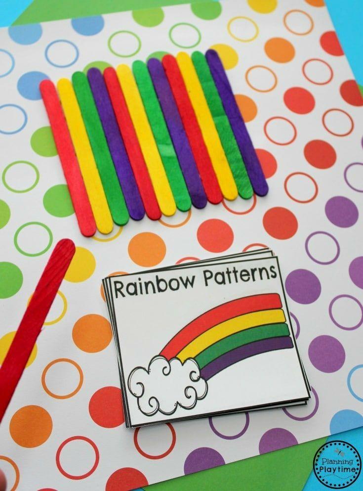 Rainbow Theme Preschool Planning Playtime Rainbow Activities Rainbow Crafts Preschool Preschool Patterns Pattern activities for preschoolers