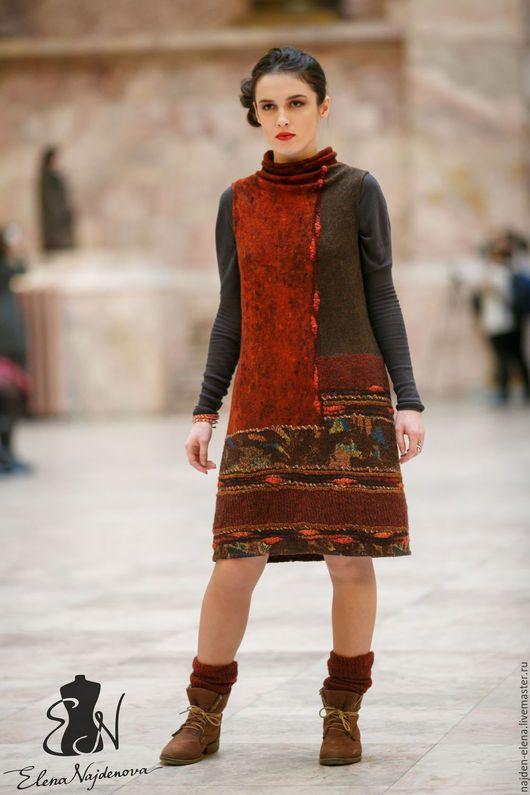 Платья ручной работы. Ярмарка Мастеров - ручная работа. Купить валяный платье-сарафан