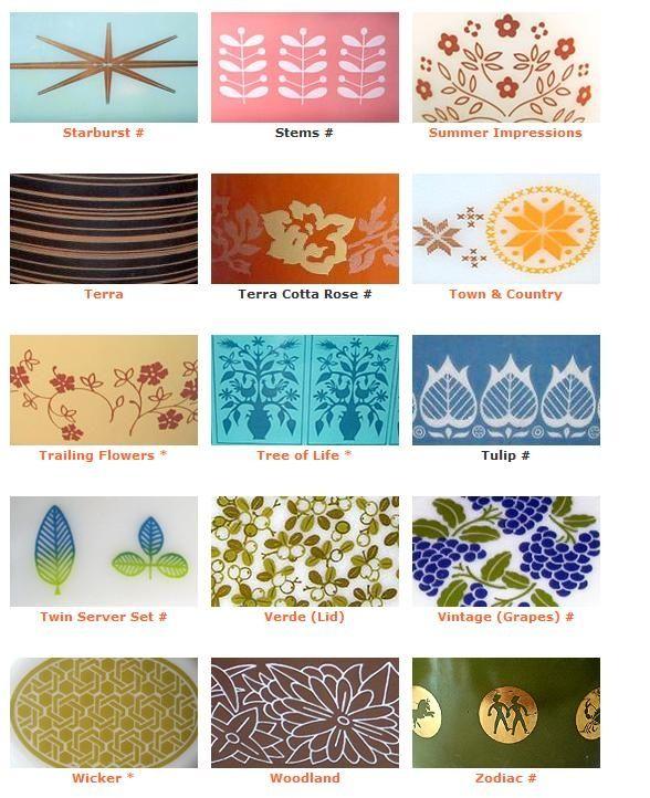 Vintahe Pyrex patterns