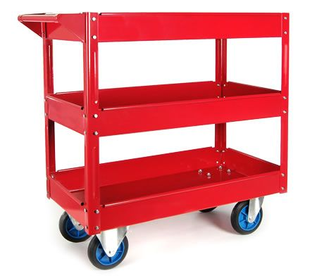 Mechanic Handyman Tool Cart Trolley with 3 Level Tray on Wheels with Handle  $66.95