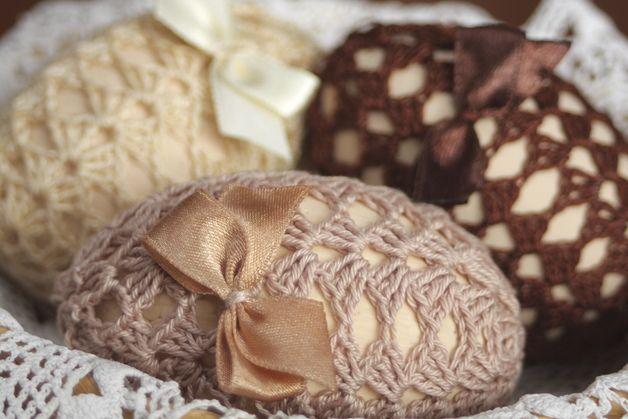 Cappucino crochet eggs. Please visit my Dawanda shop: http://pl.dawanda.com/shop/DecorAnna