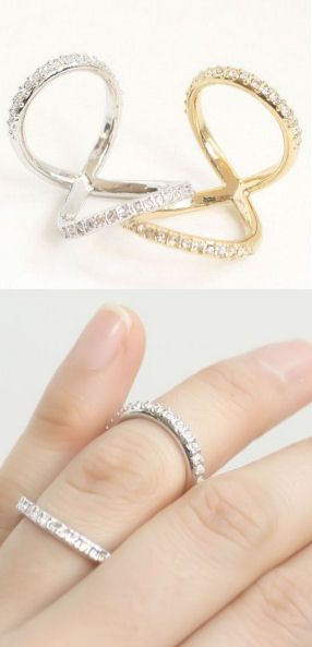 Pave Eternity Infinity Ring <3