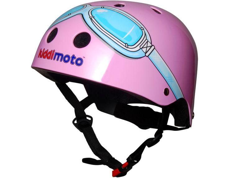 Kiddimoto Helmet- Pink Goggles Print