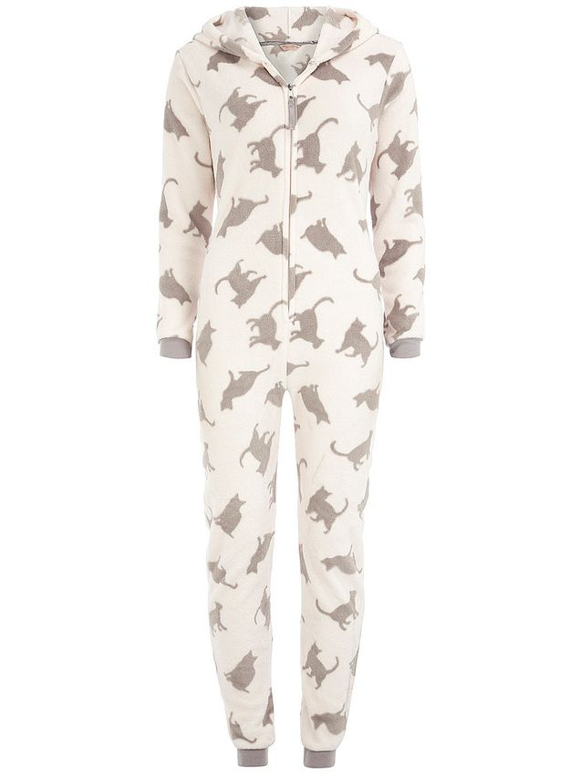 Nostalgic for slumber parties? CAT ONESIE AWWWW its a hoddie too i think AWESOME !!!!!!!!!!!!!!!!!!!!!!!!!!!!