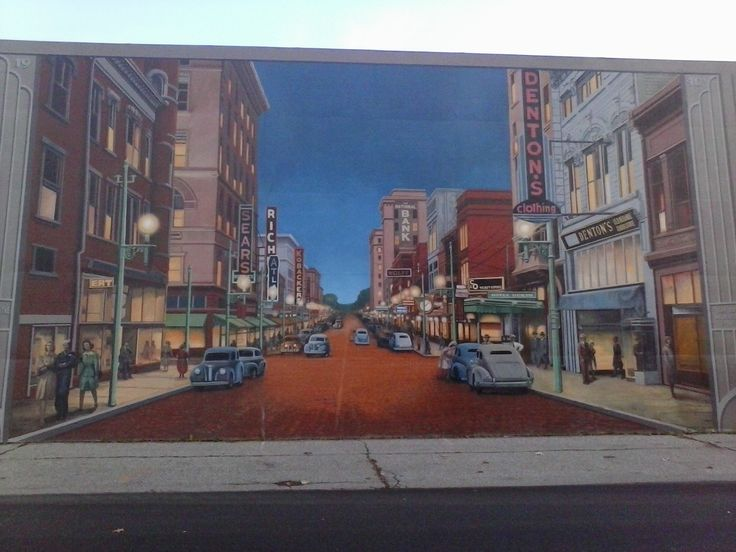 Delightful Portsmouth, OH, Flood Wall Murals... AMAZING Part 22