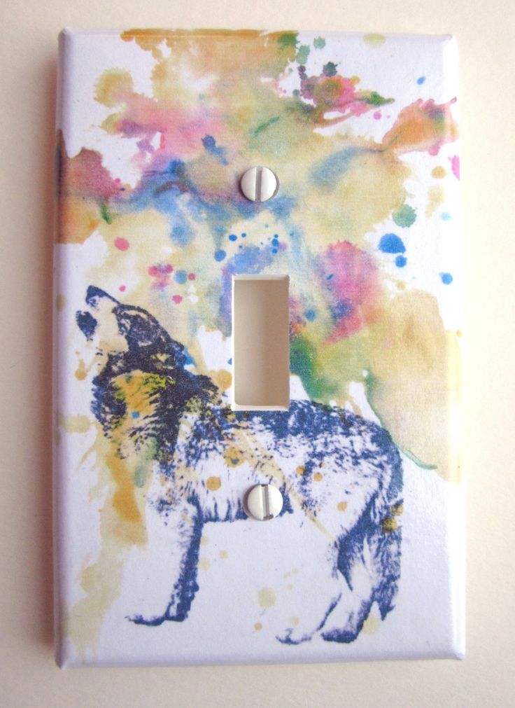 howling wolf decorative light switch plate cover for nessy - Decorative Light Switch Plates