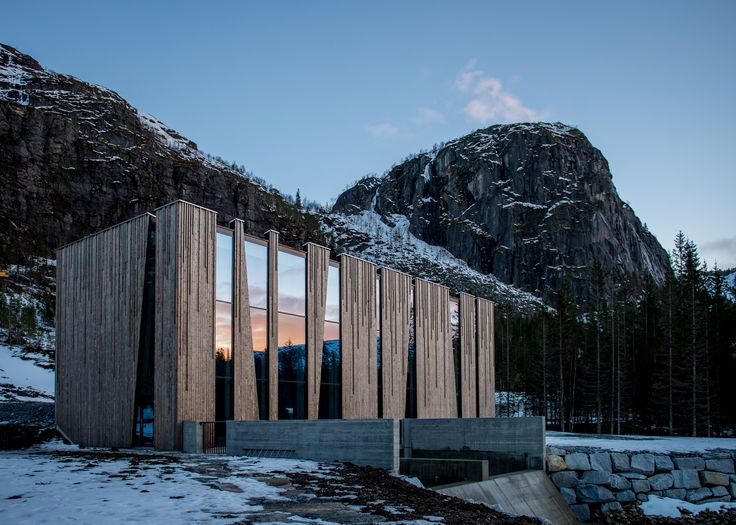 Wooden panelling by Architect @ Work exhibitor Kebony features on the Øvre Forsland power station by Helgeland Kraft