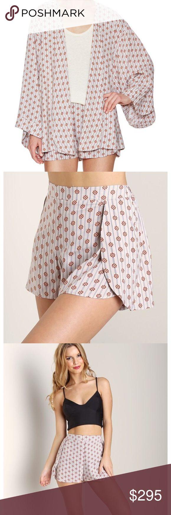 "Tori Praver Zanja Kimono & Boise Shorts Beautiful set in ""superba rust"" from the Tori Praver swimsuit collection. Never worn. New with tags. Size 2. Tori Praver Swimwear Swim Coverups"