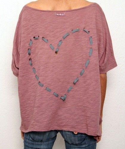 T-shirt versieren met lint