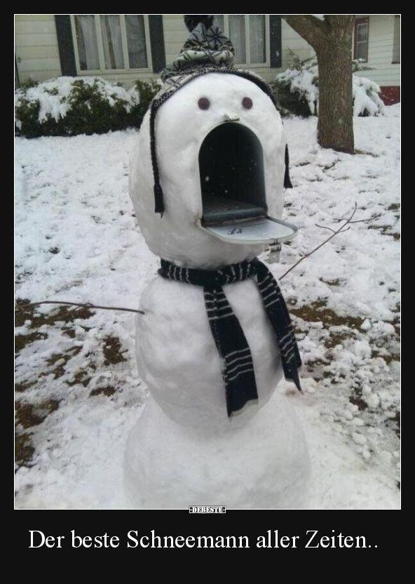 Der beste Schneemann aller Zeiten.. | Lustige Bilder, Sprüche, Witze, echt lustig
