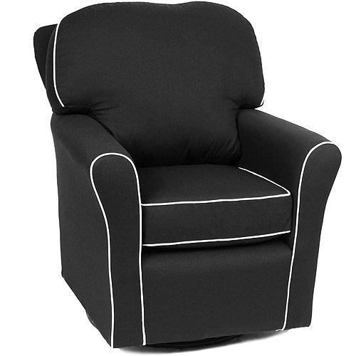 Enchanted   Camelot Glider, Black With White Piping