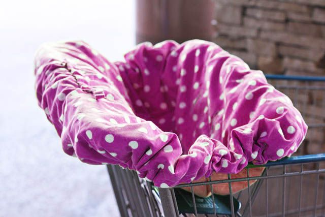 Make your own shopping cart cover or high chair cover using this free downloadable PDF pattern and tutorial!
