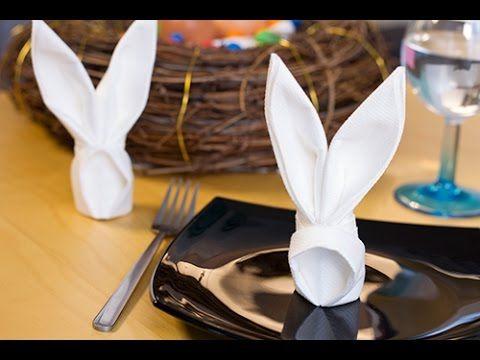 Best 25 pliage serviette papier facile ideas on pinterest - Deco table paques ...