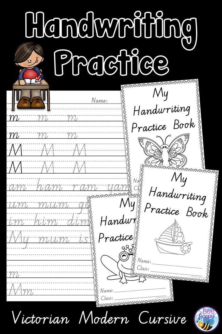 Australian Handwriting Practice Book 2 Victorian Modern Cursive With Images Handwriting Practice Learn Handwriting Handwriting Books