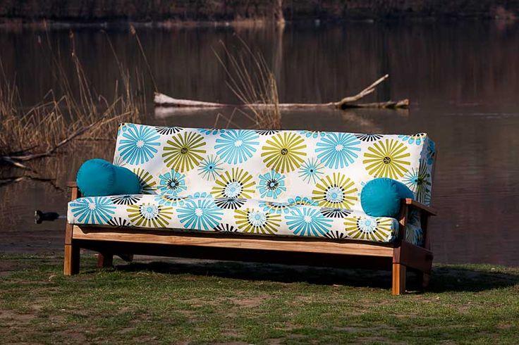 divano letto futon Jazz - in legno ad incastri - Arredo e Corredo
