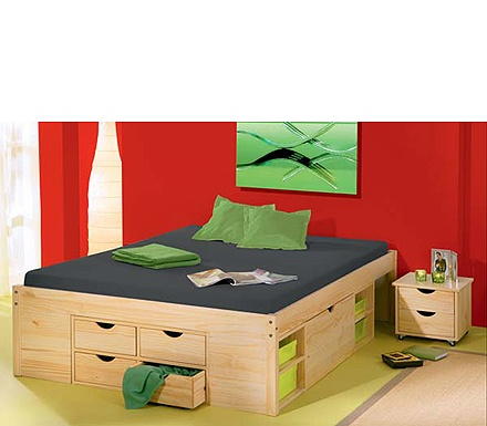 Rollo Solid Pine Continental Double Storage Bed Frame #Furniture123 Looking at storage ideas for tiny bedrooms!