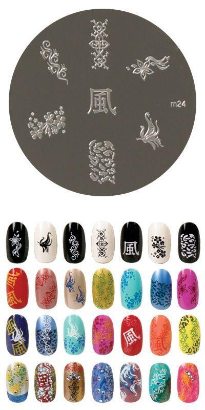 Konad m24 Nail Stamping – Nageldesign – #Designs #Konad # m24 #Nail #stamping