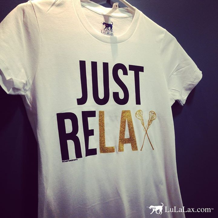 Just ReLAX with this super soft AND cute lacrosse tee! Makes the ultimate lacrosse girl gift for all lax girls!