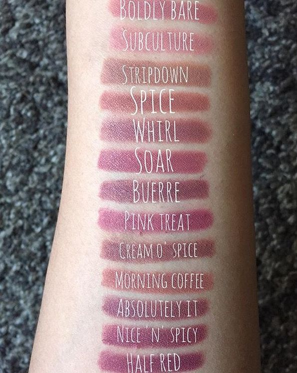 MAC lipliner swatches