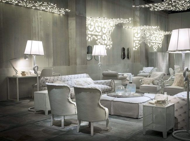 White Living Room Furniture And Decor Ideas By Paola Navone Baxter Furniture  White Leather Sofas Ottoman Part 85