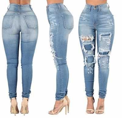 Vaqueros Jeans Skinny Rasgado para mujer Ofertas especiales y promociones  Caracteristicas Del Producto: - Lavable En La Lavadora. - Ajuste delgado y c