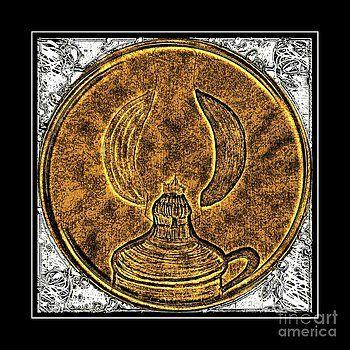 Barbara Griffin - Kerosene Lamp - Brass Etching