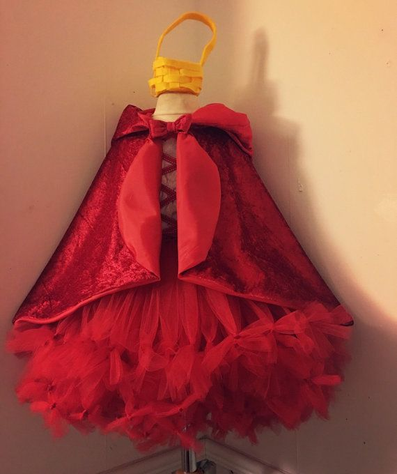 Check this out on etsy Super cute #little #red ridding #hood costume including #Cape and handwoven mini basket, the #tutu #dress has 2 beautiful layers of tulle, tied off at the end for that petit tutu... #etsymntt #etsysocial #burrellios #christmas #trending #up #fairytale #riding #cape #girls #fancy