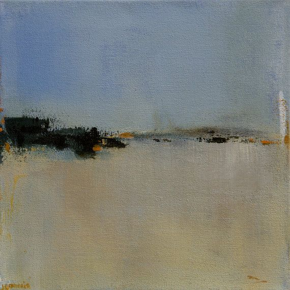 Contemporary Abstract Landscape Painting Acrylic painting on canvas -original fine art - West Elm artist