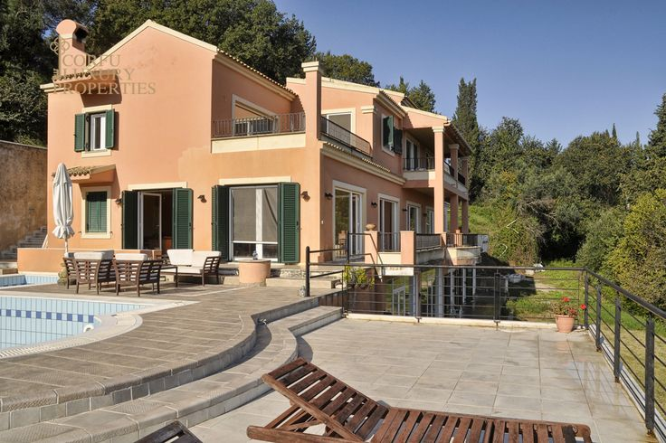 Impressive 6 bedroom villa for sale, with stunning sea views, in Gouvia, central Corfu  From: http://corfuluxuryproperties.com/property/impressive-6-bedroom-villa-for-sale-with-stunning-sea-views-in-gouvia-central-corfu/