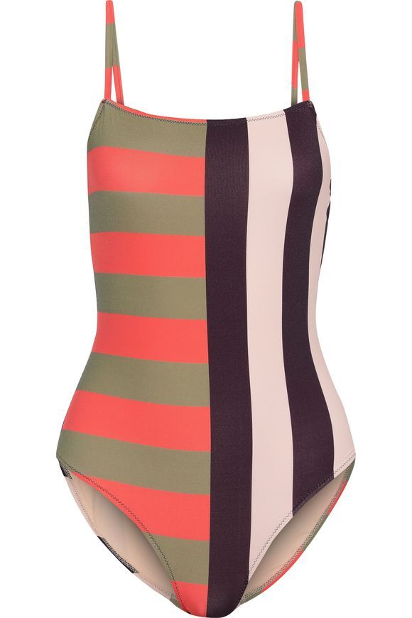 615831a0826af Eden striped swimsuit | IRIS & INK | Sale up to 70% off | THE OUTNET ...