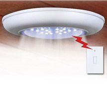 Walmart: Cordless Ceiling/Wall Light with Remote Control Light Switch