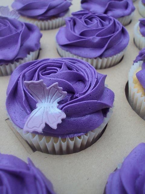 Purple cupcake!