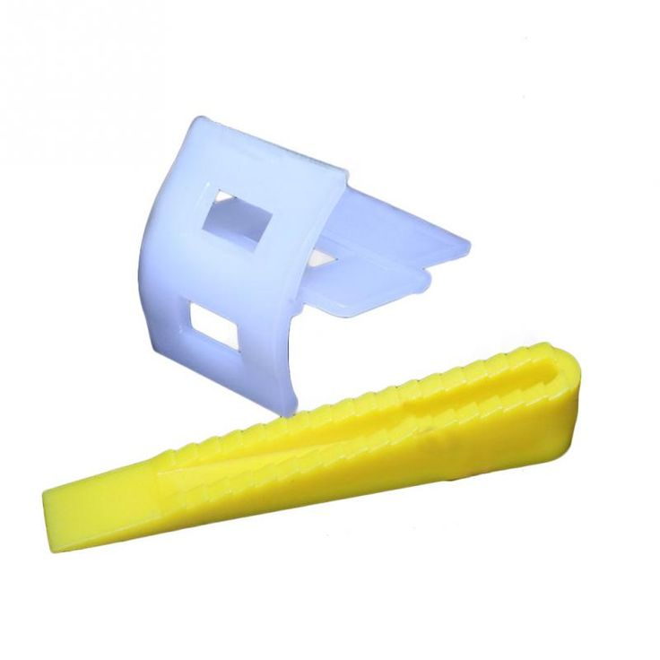 100 stücke Fliesen Nivellierung System 50 Clips + 50 Keile Fliesen Leveler Abstandshalter Für Fliesen Werkzeuge Weiß + Gelb