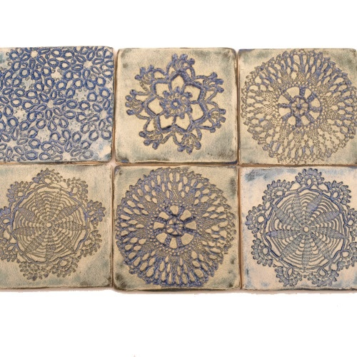 ceramic tiles, handmade tiles, kafle robione ręcznie