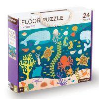 Podlahové puzzle - Petitcollage - Život oceánů - 24 dílů