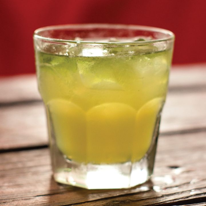The Fox Mulder: This X-Files–inspired cocktail is a classic Whiskey Sour with a pineapple twist. A Green Chartreuse float gives the drink an ethereal appearance, but the high-proof, medicinal bite keeps it grounded.