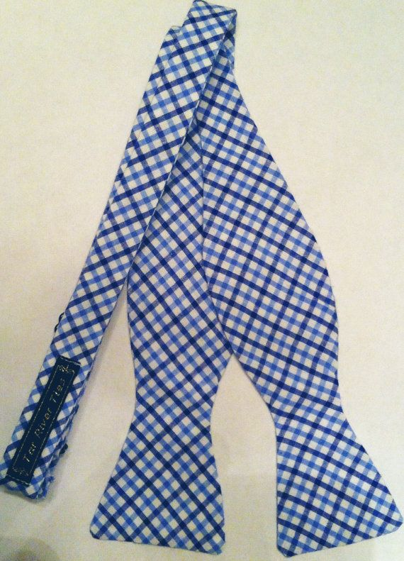 The Tar Heel River Tie  Blue Check by TarRiverTies on Etsy