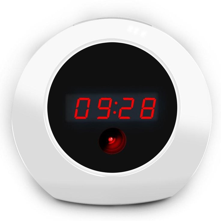 Sappywoon HD Hidden Camera Alarm Clock - Fashion Home Security Cam Loop Video Recorder Remote Controller Operation