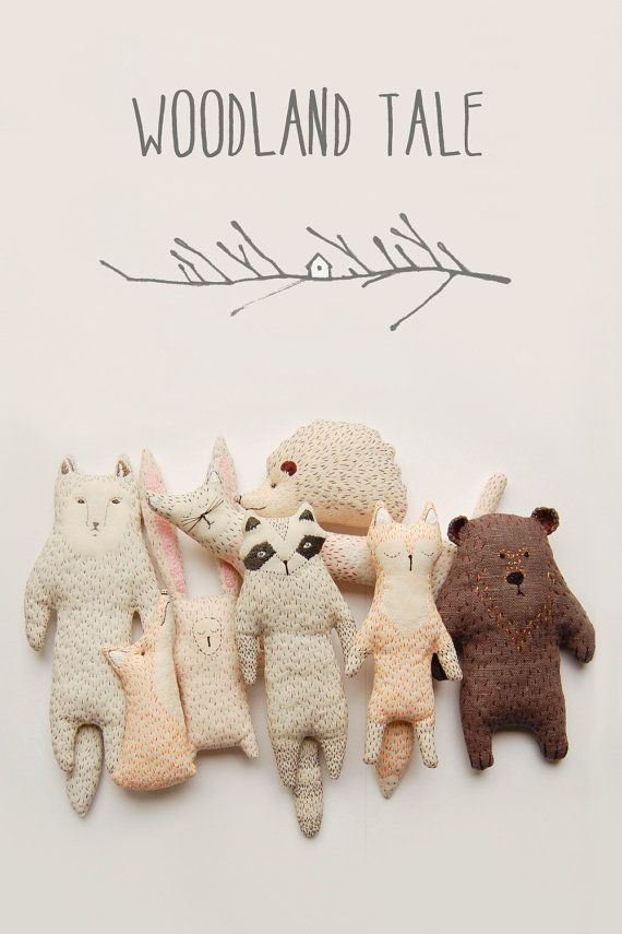 Fox stuffed animal, forest nursery decor, forest friends, cute fox gift, mini plush animal, fox decoration, baby shower gift, baby fox toy