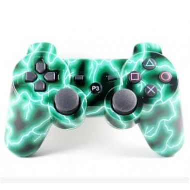Green Lightning PS3 Wireless Bluetooth Controller Dual Shock 3 Joystick for SONY PS3 Play Station 3 Controller Bluetooth Game