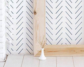 Feuilles de palmier amovible Wallpaper / fond décran par Livettes