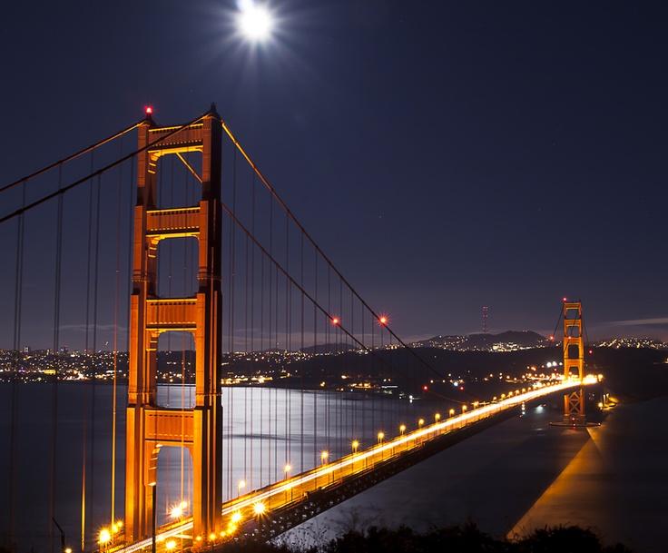 Full moon ... crossing bridges
