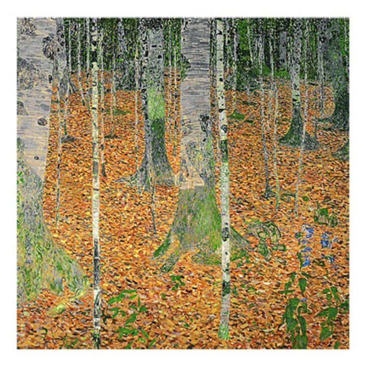 The Birch Wood Canvas Art by Gustav Klimt - BL0422-C